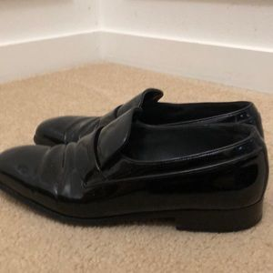 Bally Switzerland Patent Leather Loafers Size 11
